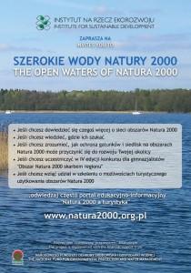 """Ulotka projektu """"Szerokie wody Natury 2000"""""""