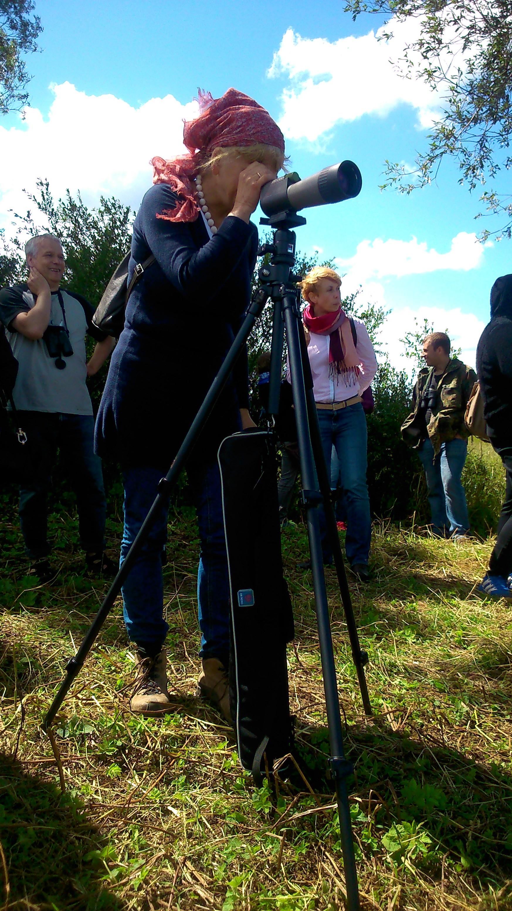 """Rezerwat Przyrody """"Beka"""" - podglądanie przyrody z daleka (foto. P. Manthey)"""